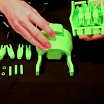 Simplify3D - 3D printed cyborg hand in pieces