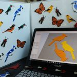 Simplify3D - 3D printed bird and butterfly magnets