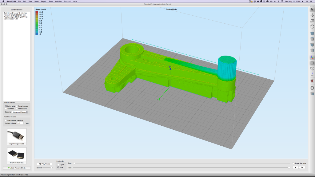Simplify3D - 3D tool with supports in Simplify3D