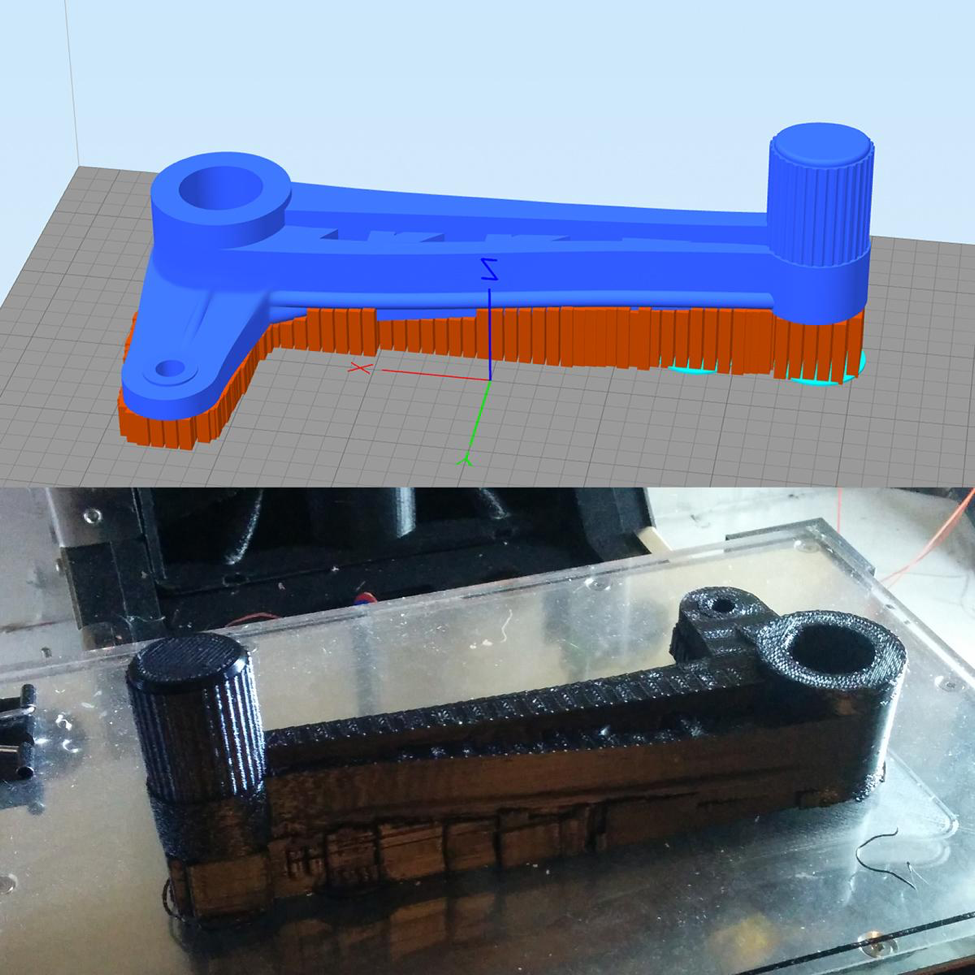 Simplify3D - 3D printing a tool with supports
