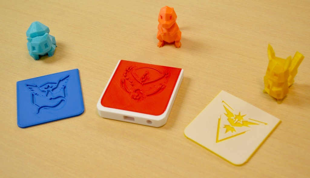 Simplify3D - 3D printed Pokemon Go cards and characters