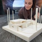 Simplify3D - woman with 3D printed architectural model