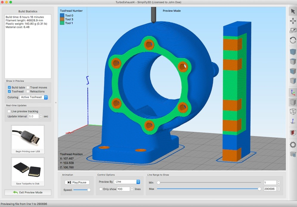 Simplify3D Version 4 1 Adds New Multi-Extrusion Capabilities