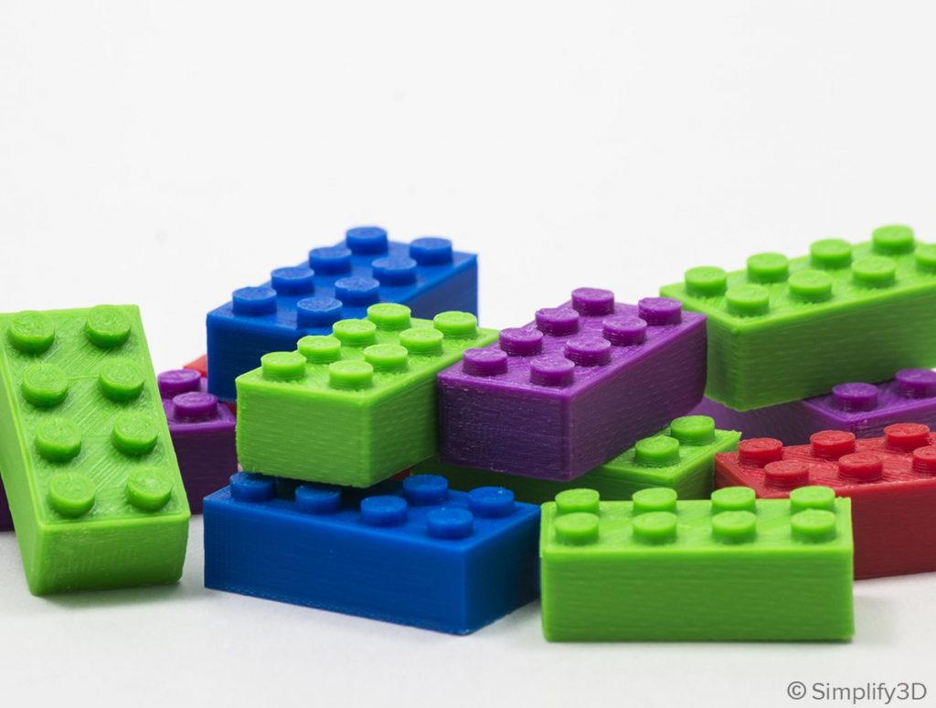 Simplify3D - ABS lego blocks