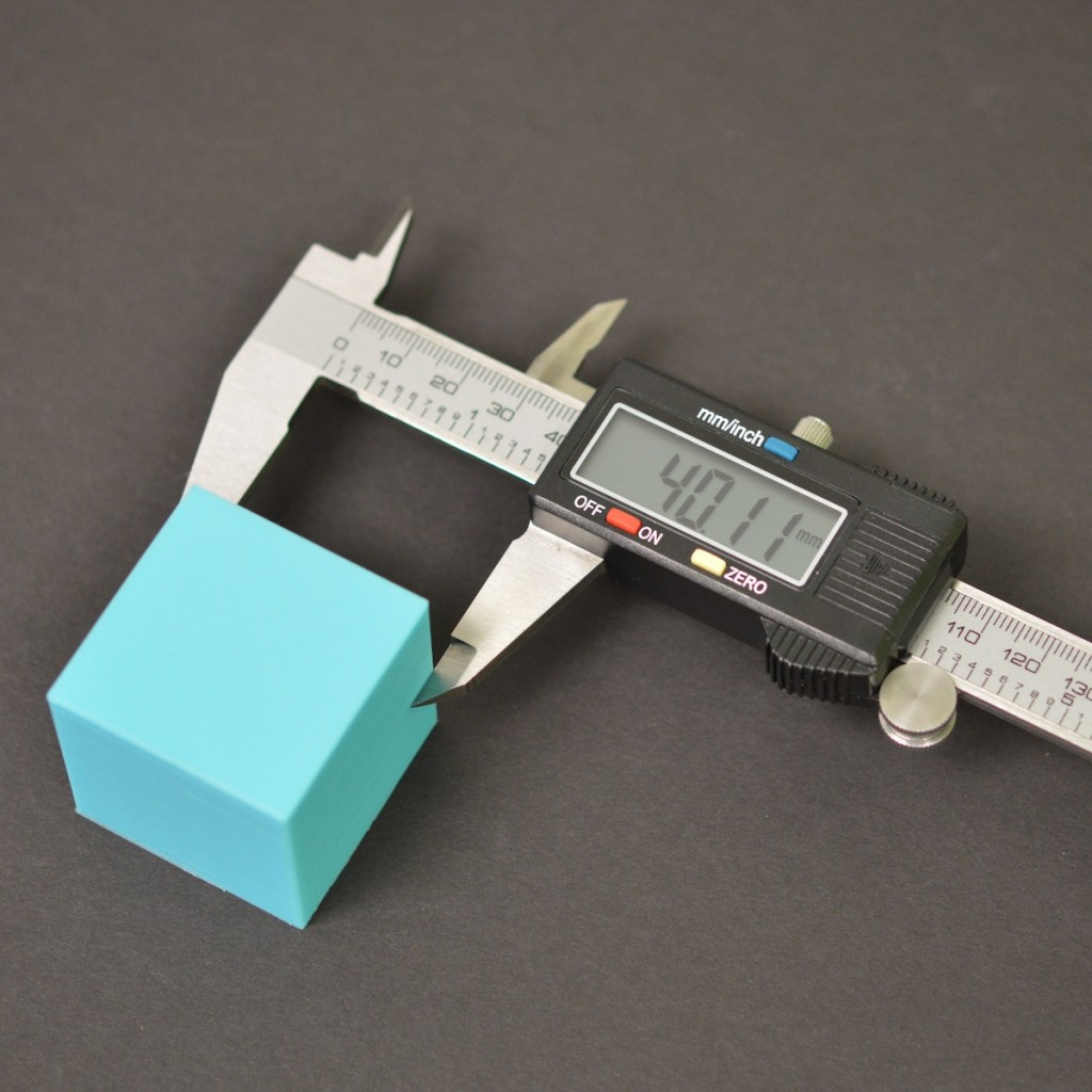 Simplify3D - dimensional accuracy calipers