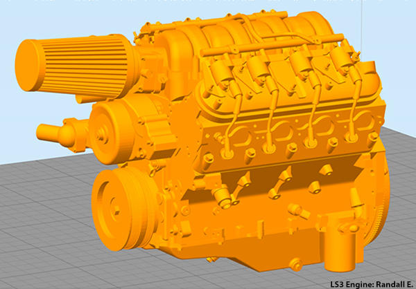 Simplify3D - engine block model