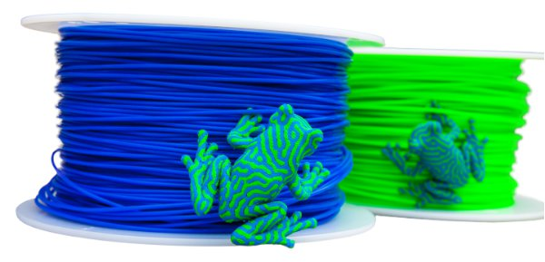 Simplify3D - multi-color 3D printed frogs with filament