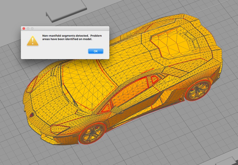 Simplify3D - mesh analysis and repair