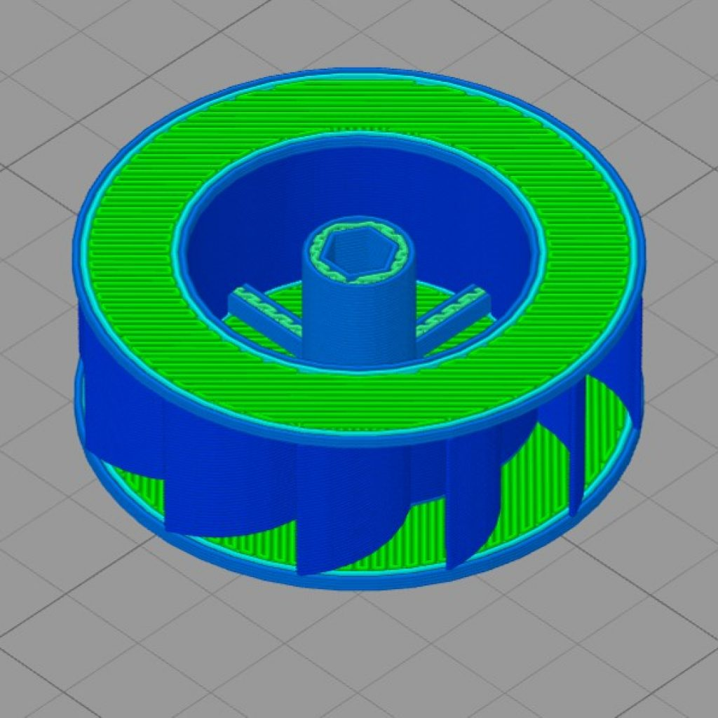 Simplify3D - turbine wheel with single extrusion walls