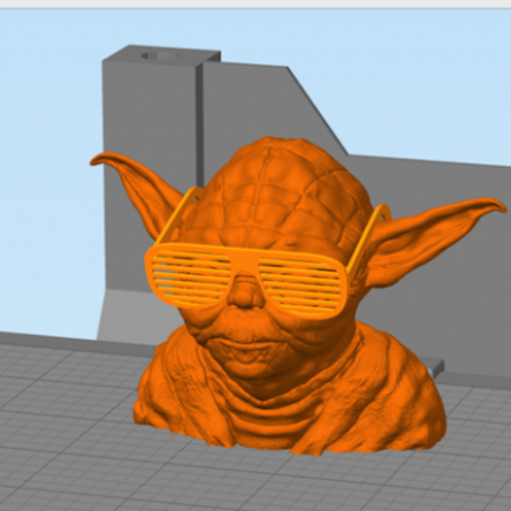 Simplify3D - transform gizmo with yoga model