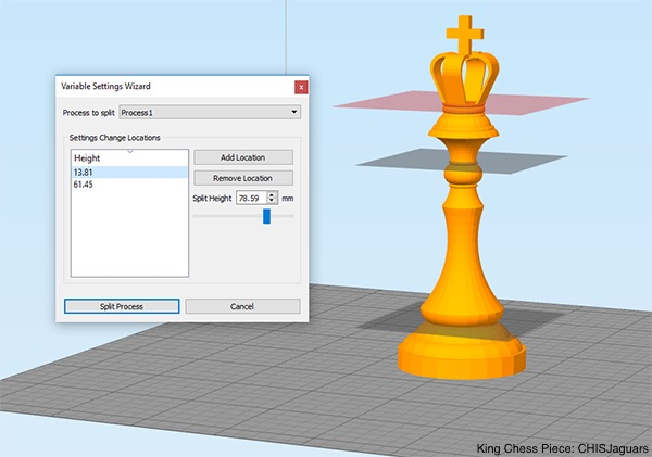 Simplify3D - variable print settings wizard